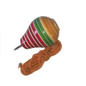 Funwood Games Wooden Spinning Lattoo with Thread (Premium Quality)