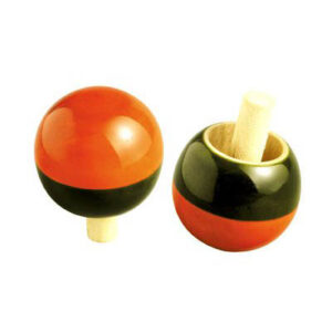 Funwood Games® Turnover Wooden Spinning Top (Pair of 2 Tops) (Premium Quality)